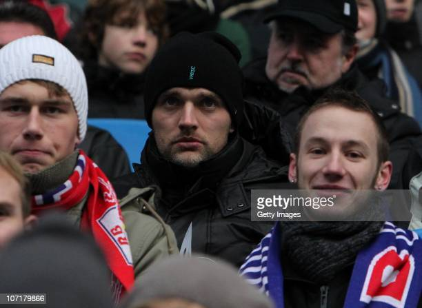 Thomas Tuchel, head coach of Mainz 05, visits the Regionalliga match between RB Leipzig and Chemnitzer FC at the Red Bull Arena on November 28, 2010...
