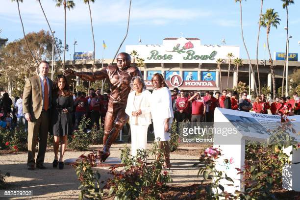 Thomas Tull Alba Tull Rachel Robinson and Sharon Robinson attend as the Rose Bowl Legacy Foundation hosts the dedication of the Jackie Robinson...