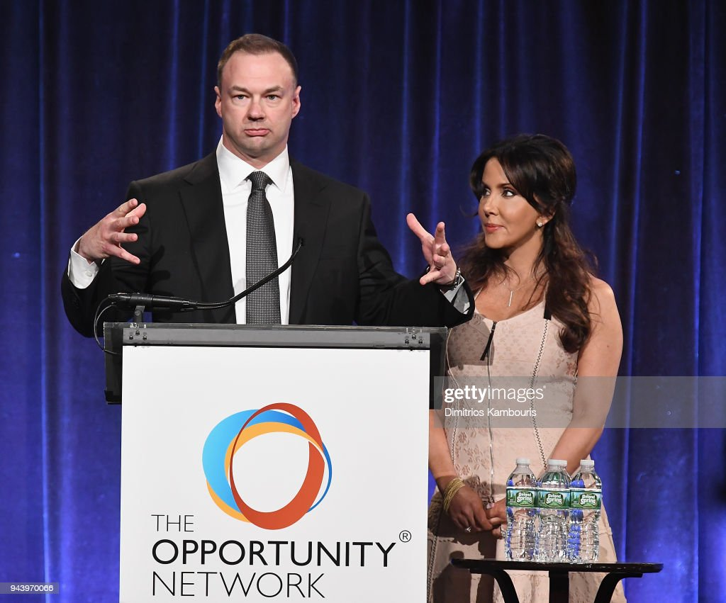 Thomas Tull and Alba Tull attend The Opportunity Network's 11th Annual Night of Opportunity at Cipriani Wall Street on April 9, 2018 in New York City.
