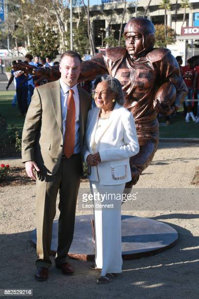 Thomas Tull and Rachel Robinson attend as the Rose Bowl Legacy Foundation hosts the dedication of the Jackie Robinson Statue at Rose Bowl on November...