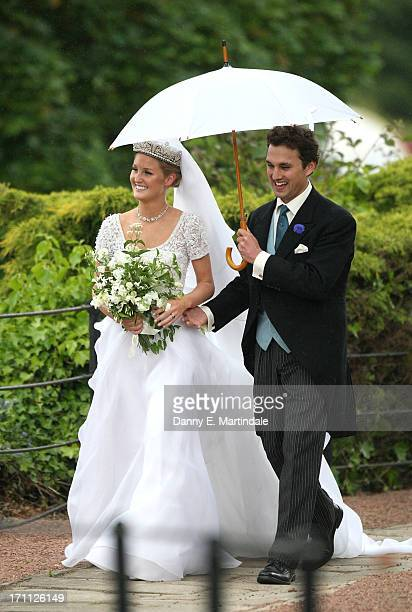 Thomas Van Straubenzee And Lady Melissa Percy During Their Wedding At Alnwick Castle On June 22