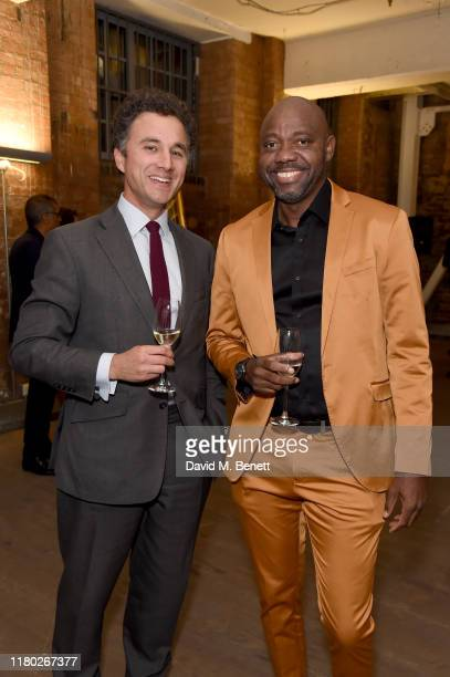 Thomas van Straubenzee and Lester Brathwaite attend the Legado x Faberge x Rome de Bellegarde VIP party at The Vinyl Factory Gallery on October 10,...