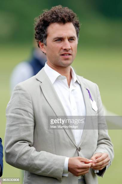 Thomas van Straubenzee attends the Jerudong Trophy charity polo match at Cirencester Park Polo Club on May 25, 2018 in Cirencester, England.