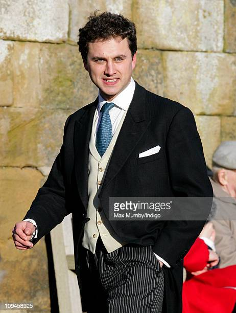 Thomas van Straubenzee attends the wedding of Lady Katie Percy and Patrick Valentine at St. Michael's Church on February 26, 2011 in Alnwick, England.
