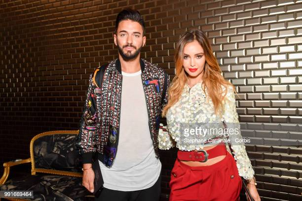 Thomas Vergara and Nabilla Benattia attend the JeanPaul Gaultier Haute Couture Fall/Winter 20182019 show as part of Haute Couture Paris Fashion Week...
