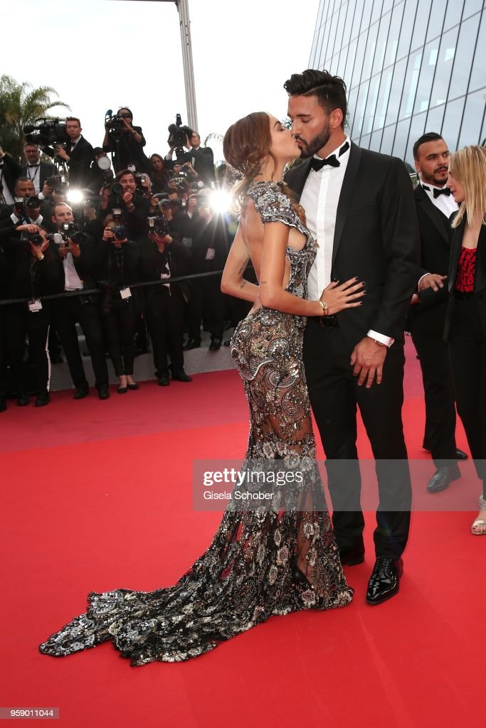Thomas Vergara and Nabilla Benattia attend the screening of 'Solo: A Star Wars Story' during the 71st annual Cannes Film Festival at Palais des Festivals on May 15, 2018 in Cannes, France.