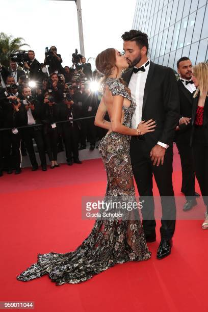 Thomas Vergara and Nabilla Benattia attend the screening of Solo A Star Wars Story during the 71st annual Cannes Film Festival at Palais des...