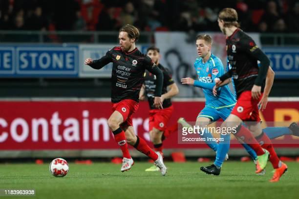 Thomas Verhaar of Excelsior Rotterdam, Gijs Smal of FC Volendam, Elias Mar Omarsson of Excelsior Rotterdam during the Dutch Keuken Kampioen Divisie...