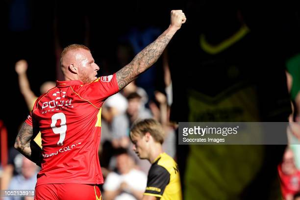 Thomas Verheydt of Go Ahead Eagles celebrates 20 during the Dutch Keuken Kampioen Divisie match between Go Ahead Eagles v Roda JC at the De...