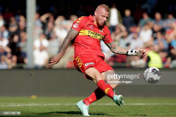 Thomas Verheydt of Go Ahead Eagles during the Dutch Keuken Kampioen Divisie match between Go Ahead Eagles v Roda JC at the De Adelaarshorst on...