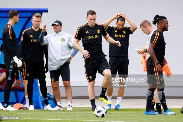 Thomas Vermaelen defender of Belgium during a training session as part of the preparation prior to the FIFA 2018 World Cup Russia group G phase match...