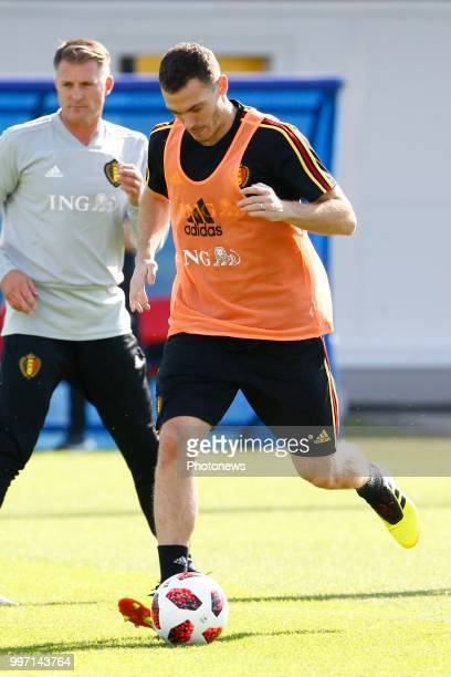 Thomas Vermaelen defender of Belgium during a training session as part of the preparation prior to the FIFA 2018 World Cup Russia Playoff for third...
