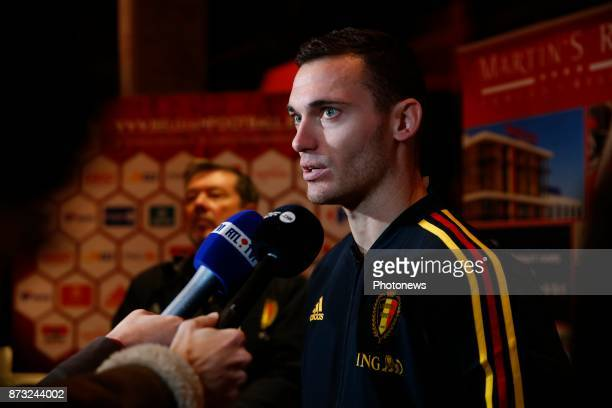 Thomas Vermaelen defender of Belgium picture during the press conference of the Red Devils at the national training center on November 11 2017 in...