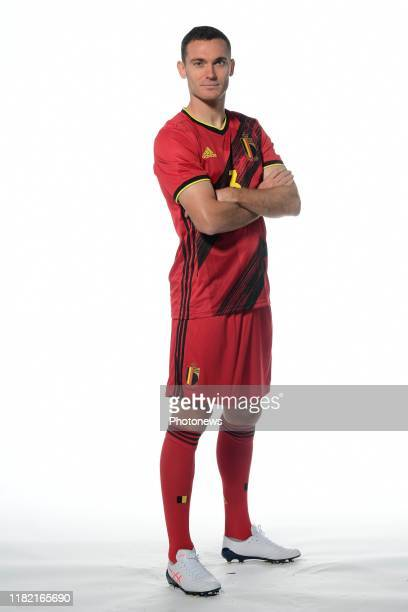 Thomas Vermaelen defender of Belgium pictured during a photo session presenting the new jersey of the Belgian National Football Team prior to the...