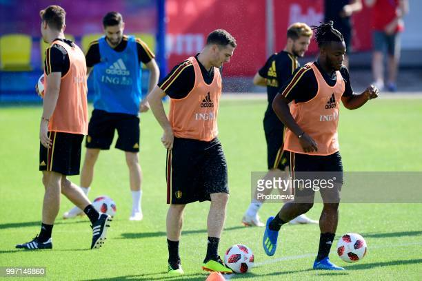 Thomas Vermaelen defender of Belgium pictured during a training session as part of the preparation prior to the FIFA 2018 World Cup Russia Playoff...