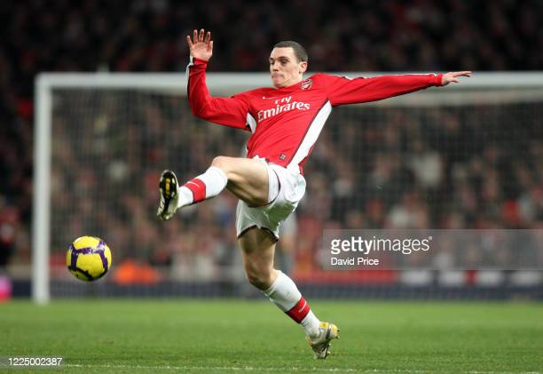 Thomas Vermaelen of Arsenal during the Premier League match between Arsenal and Liverpool on February 10 2010 in London England