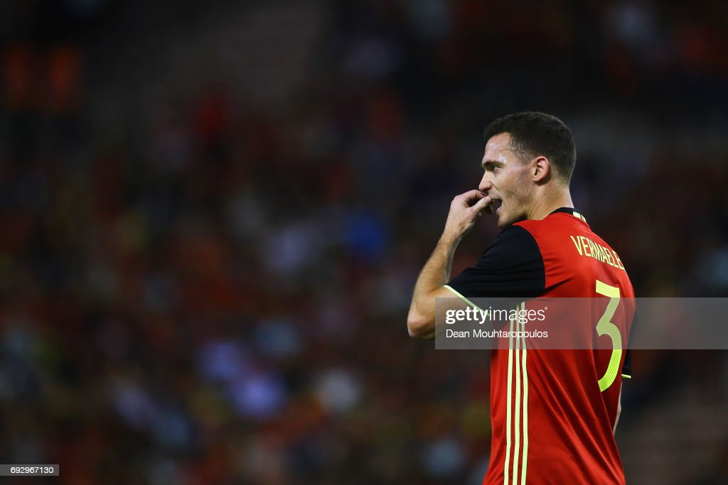 Thomas Vermaelen of Belgium in action during the International Friendly match between Belgium and Czech Republic at Stade Roi Baudouis on June 5, 2017 in Brussels, Belgium.