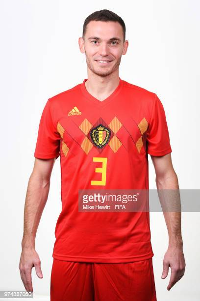 Thomas Vermaelen of Belgium poses for a portrait during the official FIFA World Cup 2018 portrait session at the Moscow Country Club on June 14 2018...