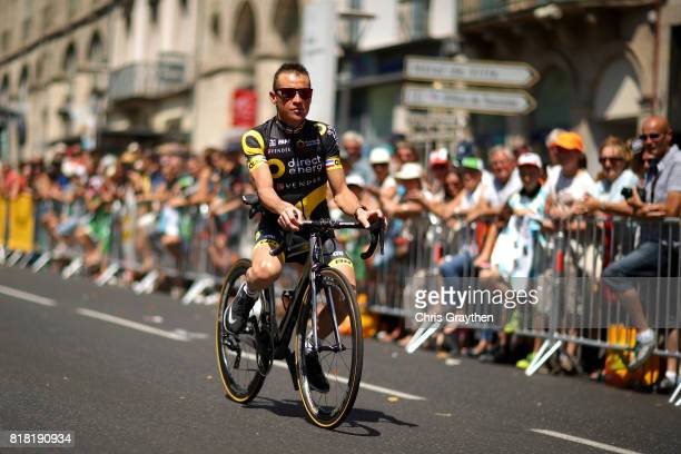 Thomas Voeckler of France riding for Direct Energie rides to the start during stage 16 of the 2017 Le Tour de France a 165km stage from Le PuyenVelay...
