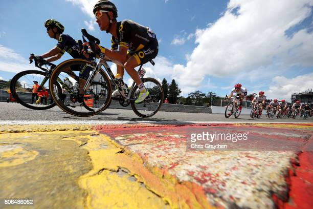 Thomas Voeckler of France riding for Direct Energie rides towards Raidillon Eau Rouge on Circuit de SpaFrancorchamps during stage 3 of the 2017 Tour...