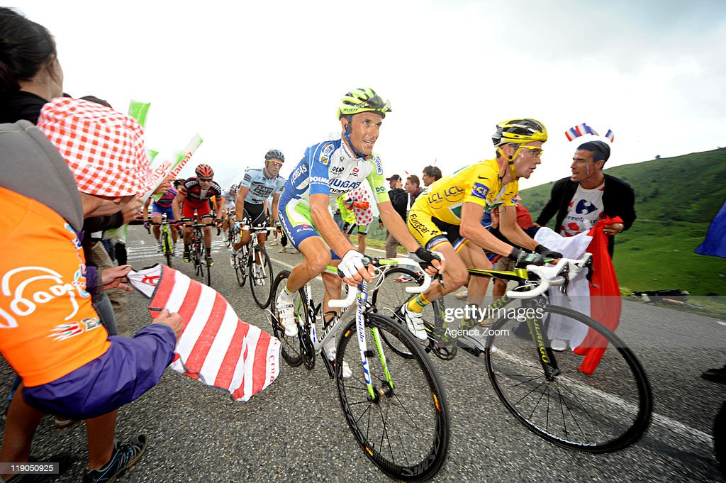 Thomas Voeckler of Team Europcar cycles during Stage 12 of the Tour de France on Thursday 14 July, Cugnaux to Luz-Ardiden, France.