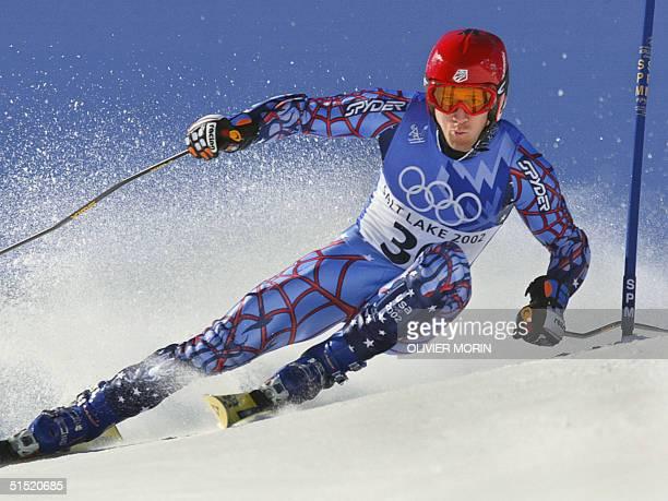Thomas Vonn during the men's giant slalom 1st run for the Salt Lake 2002 Winter Olympics 21 February 2002 at Park City AFP PHOTO/OLIVIER MORIN