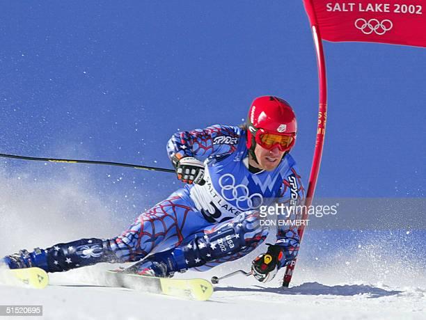 Thomas Vonn in action during the men's giant slalom 1st run for the Salt Lake 2002 Winter Olympics 21 February 2002 at Park City AFP PHOTO/DON EMMERT