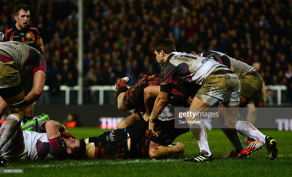 Exeter Chiefs v Ospreys - European Rugby Champions Cup : News Photo