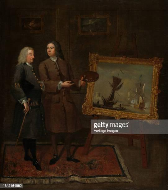 Thomas Walker and Peter Monamy, circa 1735. Artist Gawen Hamilton.