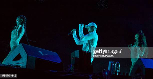 Thomas Wesley Pentz aka Diplo of Major Lazer performs during 2016 Lollapalooza Day Two at Grant Park on July 29 2016 in Chicago Illinois