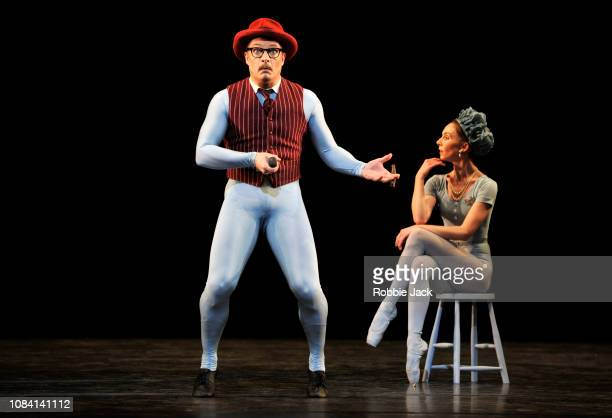 Thomas Whitehead and Kristen McNally in Jerome Robbins'u2019s The Concert at The Royal Opera House on December 17 2018 in London England