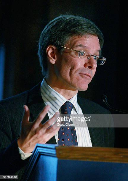 Thomas Wilson chairman president and CEO of The Allstate Corporation speaks during a panel discussion on the global financial crisis hosted by The...