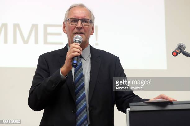 Thomas Wollscheid during the awarding ceremony of HermannNeubergerAward on May 19 2017 in Saarbruecken Germany