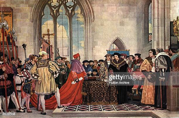 Thomas Wolsey the prelate and statesman who rendered himself indispensable under the monarchy of Henry VIII circa 1529 He was succeeded in his...