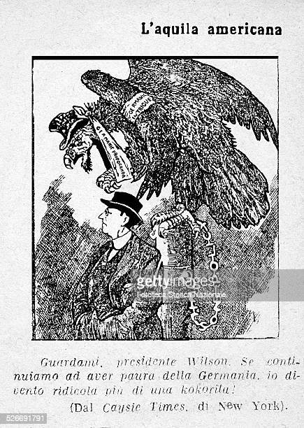 Thomas Woodrow Wilson two times USA president portrayed in a satire interventionist He is dominated by the USA eagle wound and linked to him The...