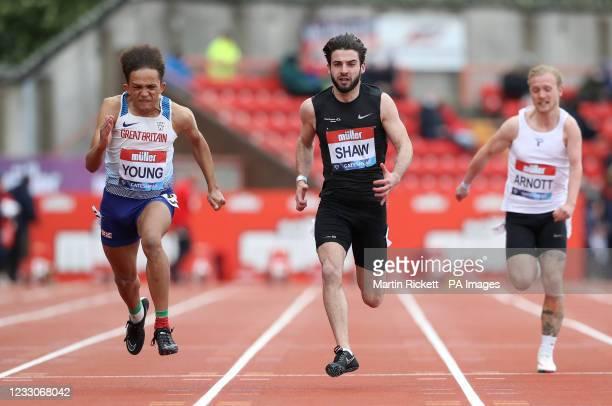 Thomas Young winning the Men's 100m T12 at the Gateshead International Stadium. Picture date: Sunday May 23, 2021.