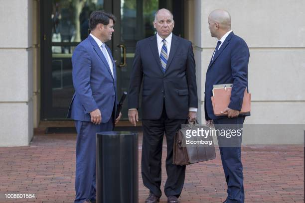 Thomas Zehnle cocounsel for former Trump Campaign Manger Paul Manafort center and Jay Nanavati cocounsel for former Trump Campaign Manger Paul...