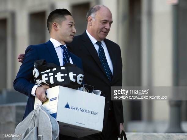 Thomas Zehnle lawyer for former Trump campaign chairman Paul Manafort arrives at the US District Court in Washington DC on March 13 2019 Paul...