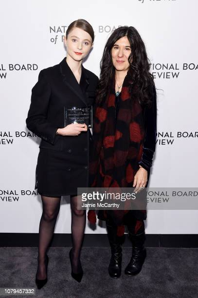 Thomasin Harcourt Mckenzie and Debra Granik attend The National Board of Review Annual Awards Gala at Cipriani 42nd Street on January 8 2019 in New...