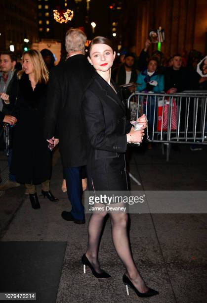 Thomasin Harcourt Mckenzie arrives to the 2019 National Board Of Review Gala at Cipriani 42nd Street on January 8 2019 in New York City