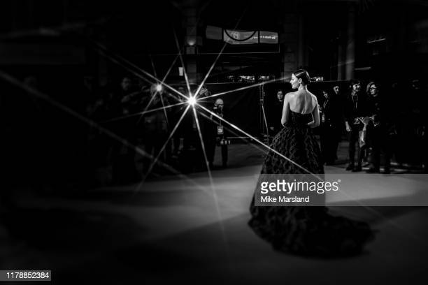Thomasin Harcourt Mckenzie attends The King UK Premiere during the 63rd BFI London Film Festival at Odeon Luxe Leicester Square on October 03 2019 in...