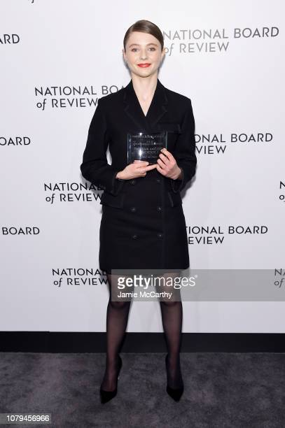 Thomasin Harcourt Mckenzie poses backstage with the Breakthrough Performance award for Leave No Trace during The National Board of Review Annual...