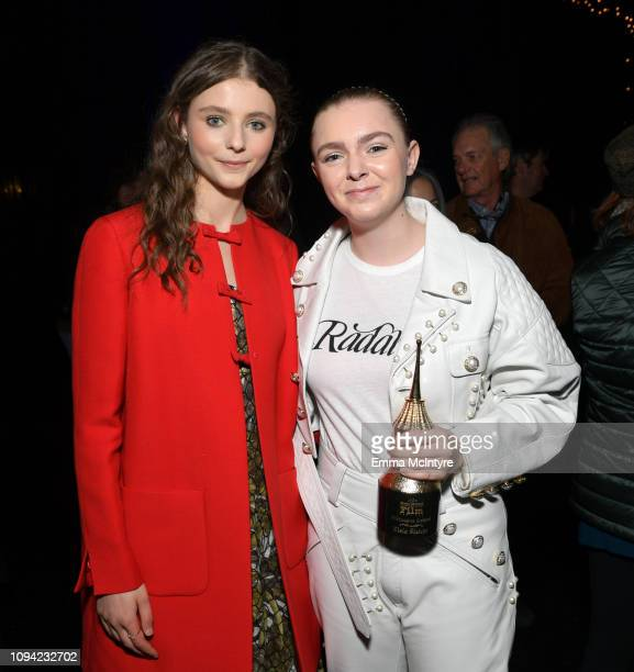 Thomasin McKenzie and Elsie Fisher attend the Virtuosos Award Presented By UGG during the 34th Santa Barbara International Film Festival at Arlington...