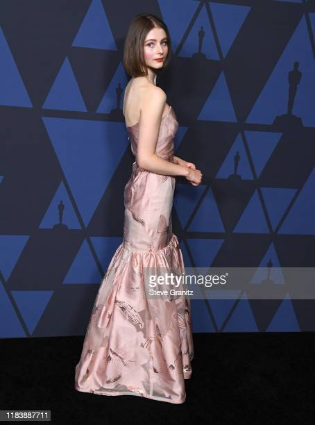 Thomasin McKenzie arrives at the Academy Of Motion Picture Arts And Sciences' 11th Annual Governors Awards at The Ray Dolby Ballroom at Hollywood...