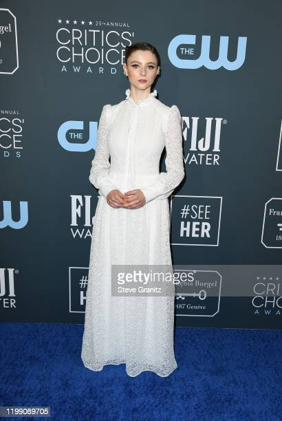 Thomasin McKenzie attends the 25th Annual Critics' Choice Awards at Barker Hangar on January 12 2020 in Santa Monica California