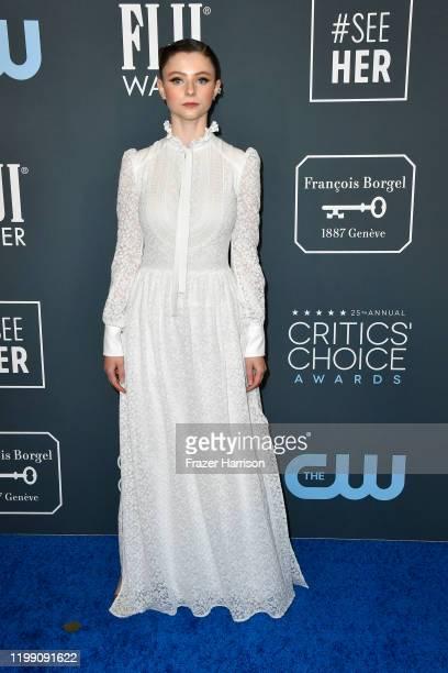 Thomasin McKenzie attends the 25th Annual Critics' Choice Awards at Barker Hangar on January 12, 2020 in Santa Monica, California.