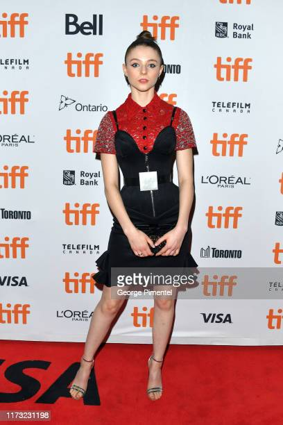 Thomasin McKenzie attends the Jojo Rabbit premiere during the 2019 Toronto International Film Festival at Princess of Wales Theatre on September 08...