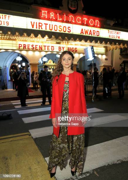 Thomasin McKenzie attends the Virtuosos Award Presented By UGG during the 34th Santa Barbara International Film Festival at Arlington Theatre on...