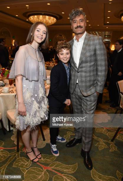 Thomasin McKenzie, Roman Griffin Davis, and Taika Waititi attend the 20th Annual AFI Awards at Four Seasons Hotel Los Angeles at Beverly Hills on...