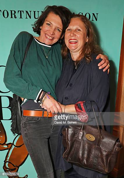 Thomasina Miers and Angela Hartnett attend the launch of 'Fortnum Mason The Cook Book' by Tom Parker Bowles at Fortnum Mason on October 18 2016 in...
